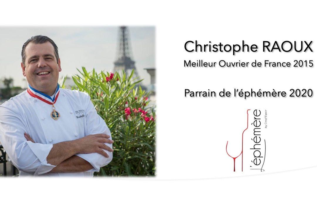 Le chef Christophe Raoux sera le parrain de l'éphémère 2020